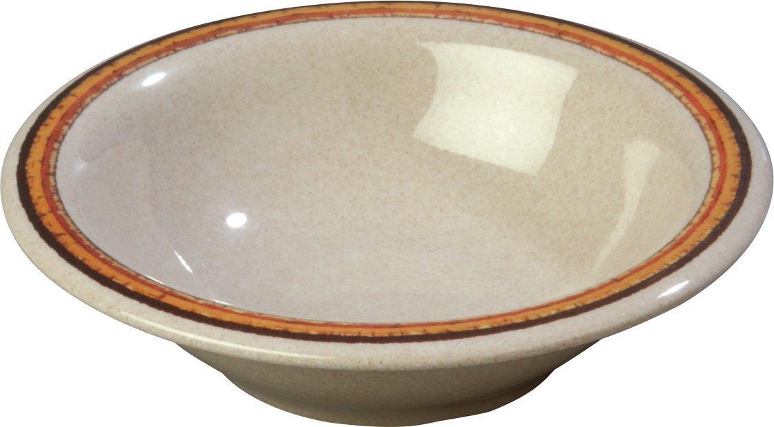 Carlisle 43037908 Durus Designer Pattern 12-oz. Rimmed Bowl, 7.24'' Diameter, Sierra Sand on Sand (Case of 24)