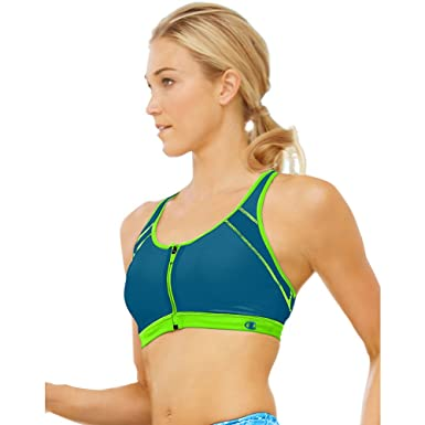 ac719e058e Champion Women s Zip Sports Bra at Amazon Women s Clothing store