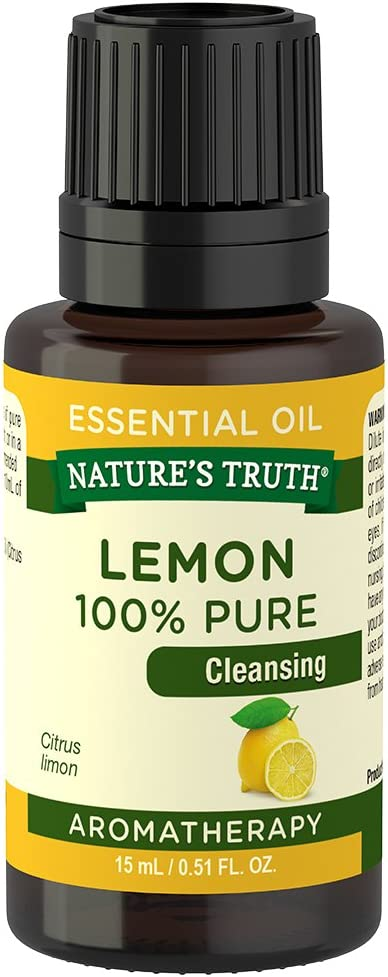 Nature's Truth Vitamins Essential Oil, Lemon, 0.51 Fluid Ounce