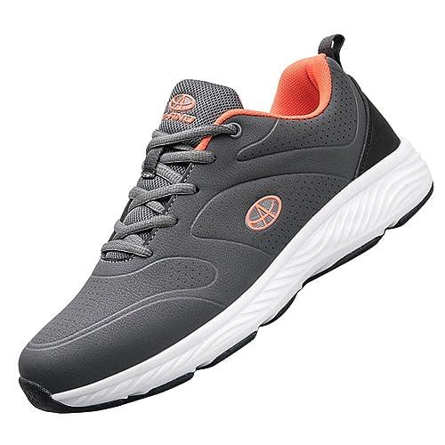 Amazon.com | KUIBU Mens Lightweight Shock Absorption Slip-On Toning Fitness Tennis Sports Casual Running Sneaker Shoes | Running