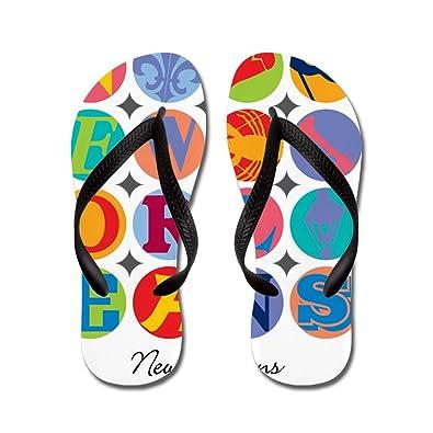 4a2f3d195bb7d9 CafePress - New Orleans Themes - Flip Flops