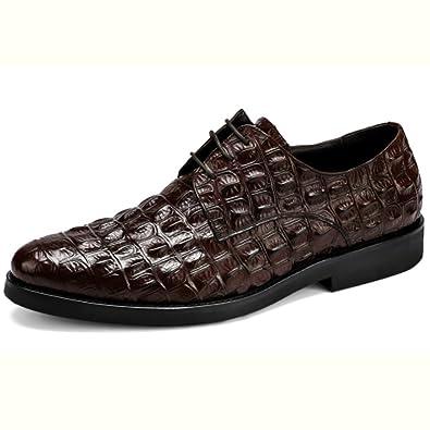 Schnürschuhe Für Männer Außenhandel Herrenschuhe Schuhe der Britischen  Krokodilmänner Runde Kopf Schuhe Business-Schuhe Für d01a569812