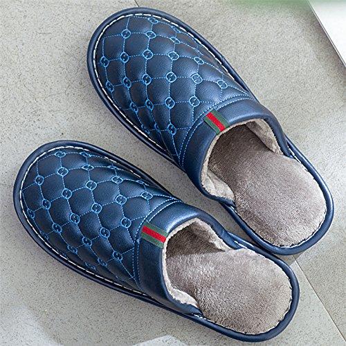 l'hiver 40 moelleux en LaxBa Chambre L'hiver Chaussons chaud pour antiglisse Accueil Chaussons marine270 39 chaussures chaussons au chaleureux hiver bleu ttFxqwH