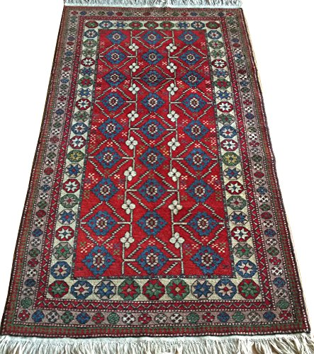 Vintage Handwoven Area Rug Carpet 5.92 x 3.20 ft.