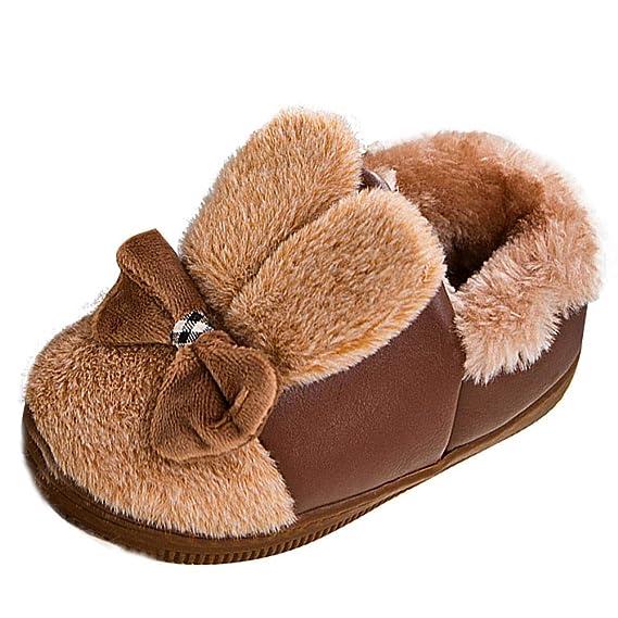 YanHoo Zapatos para niños Zapatos de algodón cálido de Invierno niña de Dibujos Animados Botas para