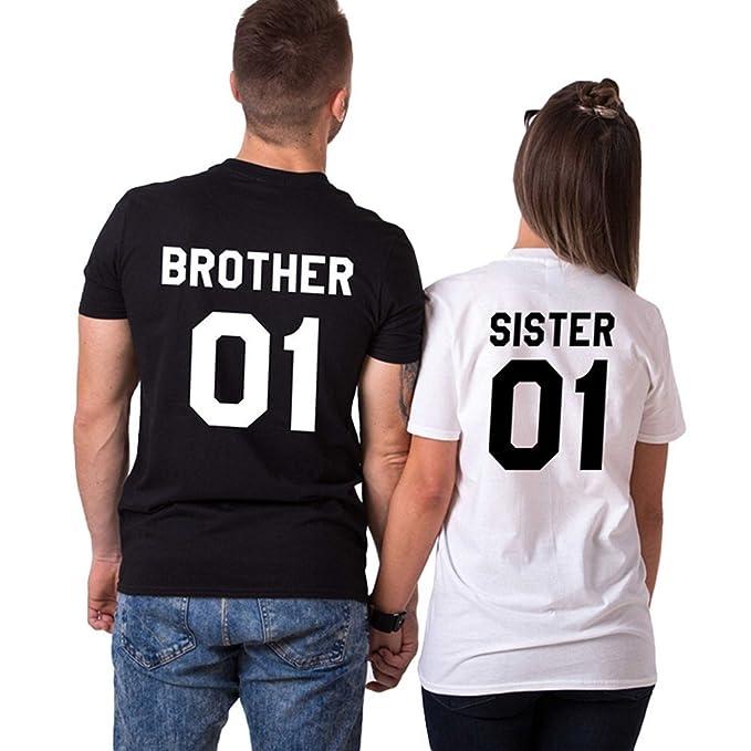 Da T Girocollo Maglie Shirt Corta A Uomo Donna Sister Manica Tomwell Xn8kNP0wO