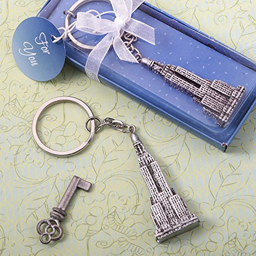 FavorOnline Empire State Building Skyscrapers Keychains, (State Musical Keychain)