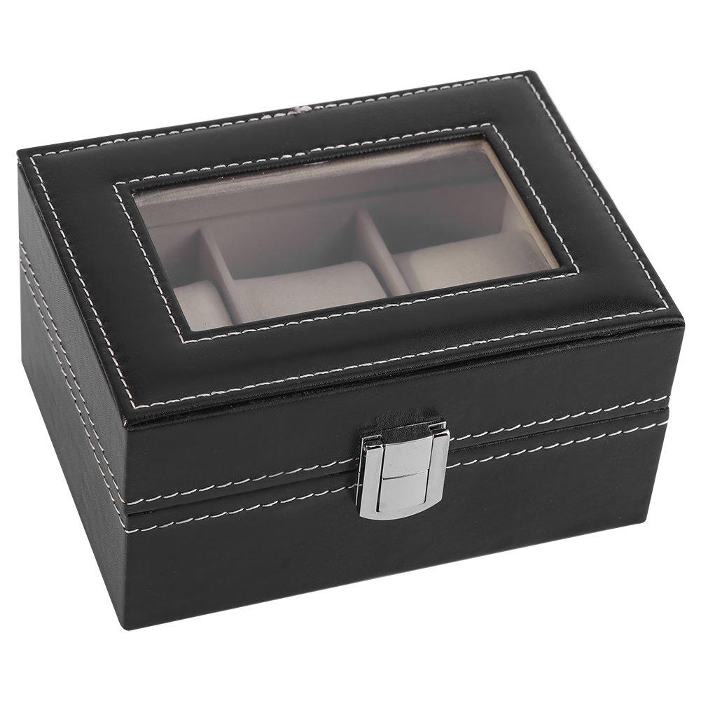 Yosooo High Grade 3 Slots PU Leather Box Case For Watch Jewellery Display Storage Organizer Hot 1Pc
