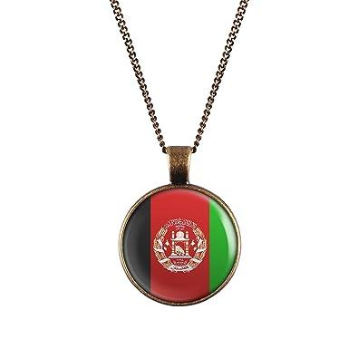 Weareawesome Afghanistan Flagge Halskette Landerkette Mit Fahne