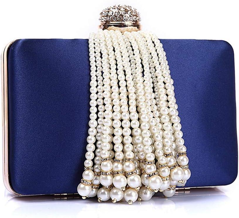 Lisansang Borsa da Sera da Donna Pochette da Damigella d'Onore da Sposa per Donna (Color : Pink) Blue
