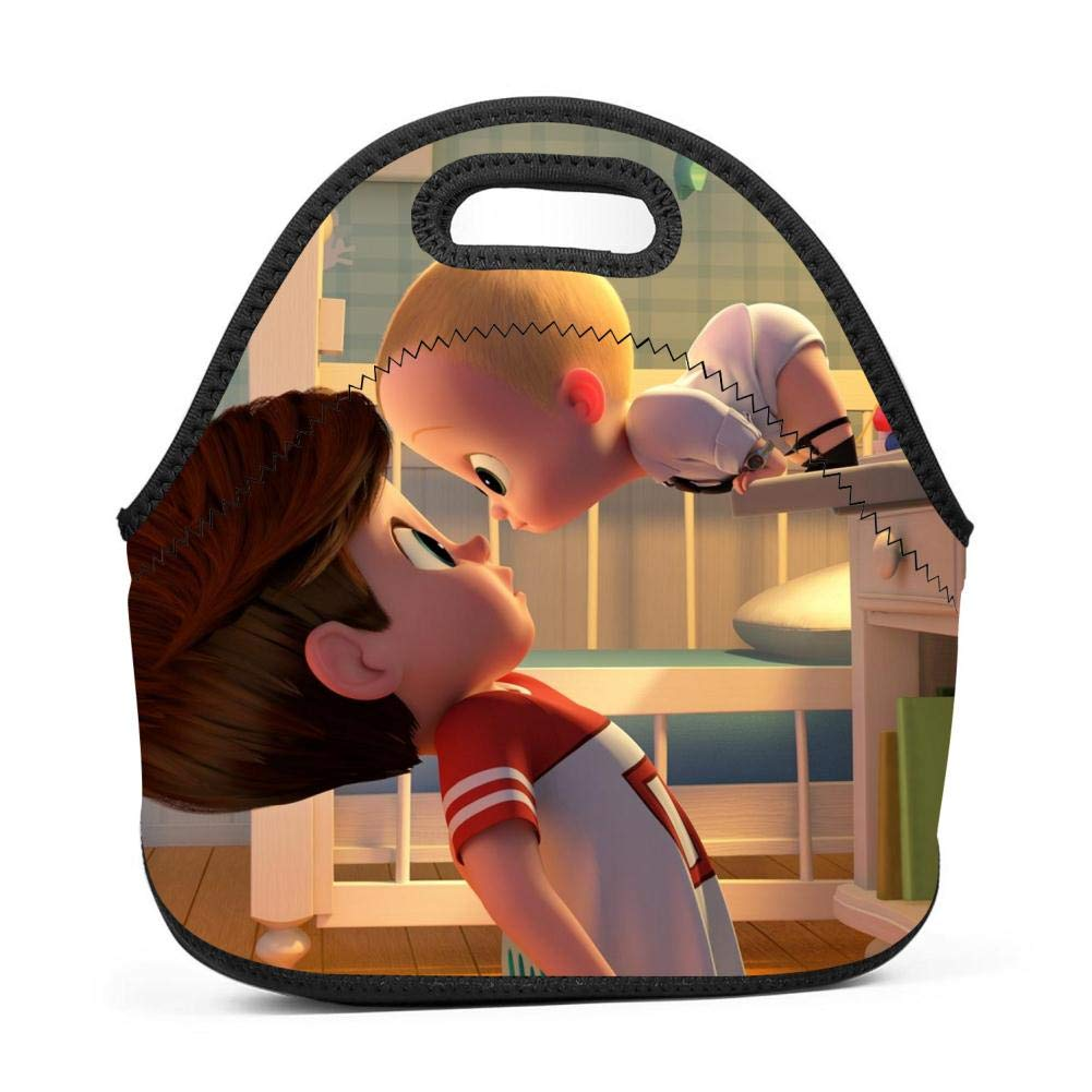 BLKDA25B Resistant Portable Lunch Bag Baby Boss Carry Case Tote Zipper Strap Box Cooler Container Bags Picnic Outdoor Travel Fashionable Handbag Pouch Women Men Kids Girls