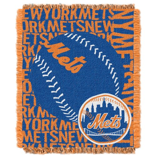 The Northwest Company Officially Licensed MLB New York Mets Double Play Jacquard Throw, 48
