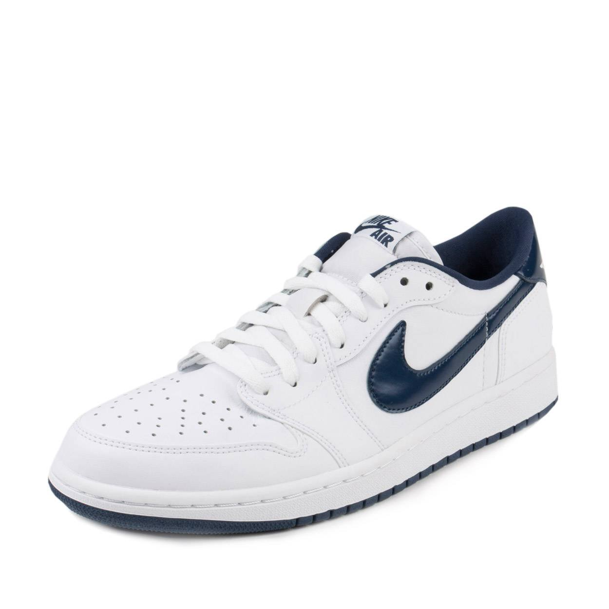 new style 7f434 dc1d7 Galleon - Nike Jordan Men s Air Jordan 1 Low Basketball Shoes (11 M US,  White Midnight Navy)