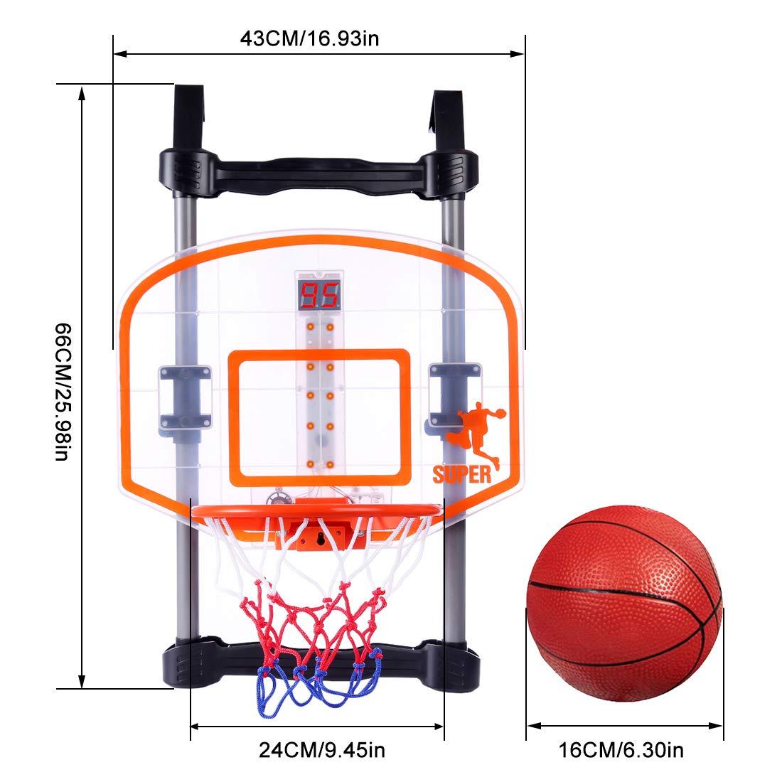 Yavso - Canasta de baloncesto para niños, minicanasta de ...