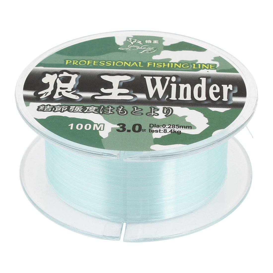 Como vert 0.285mm Dia 8,4 kg d'eau douce Ligne de pêche Spool 328ft 3.0 #