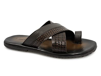 113f0531cca Lucini KAI Mens Leather Mule Sandals Brown UK 12  Amazon.co.uk ...