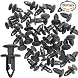 CandyHome 100 PCS 8mm Nylon Bumper Fasteners Fender Rivet Clips Automotive Clips and Fasteners Car Bumper Retainer Clips - Fits Most Models