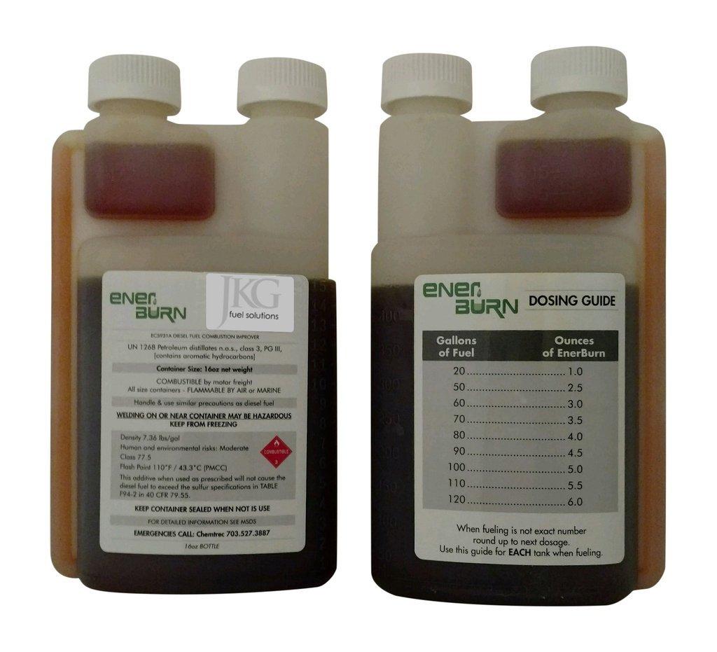 Enerburn - Liquid Diesel Fuel Combustion Catalyst & DPF Cleaner, 16-ounce bottle, 8-pack by Enerburn