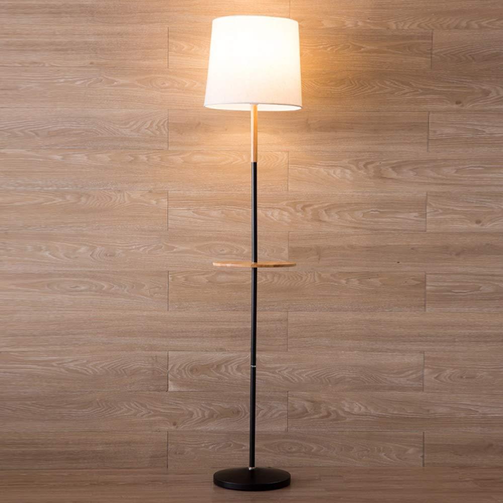 Amazon.com: HALORI Floor lamp with shelf, Nordic minimalist ...