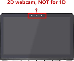 LCDOLED Compatible 15.6 inch FullHD 1080P IPS LED LCD Display Touch Screen Digitizer Assembly + Bezel + Touch Control Board Replacement for HP Envy 15-as133cl X6V56UA (2D Webcam)