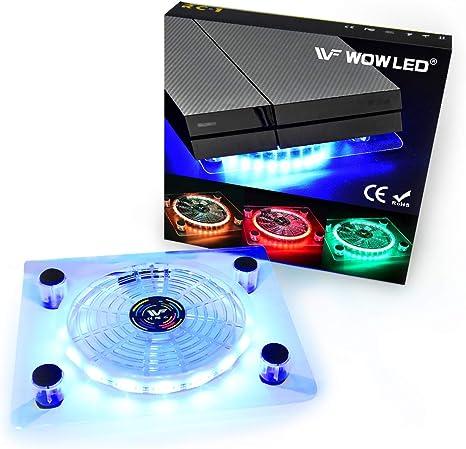 Ventilador Wowled con LED RGB, por USB, soporte refrigerador para ...