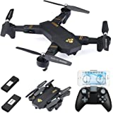 720P Foldable RC Quadcopter, WiFi FPV Real Time Transmission / Altitude Hold / Headless Mode / One Key Backward / High&Low Speed Mode / G-sensor Mode RC Drone (720P x 2 batteries)
