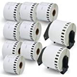"BETCKEY - Compatible DK-2205 Continuous Length 2-3/7"" x 100'(62mm x 30.48m) Replacement Labels,Compatible with Brother…"