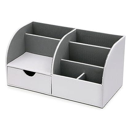Sumnacon - Caja organizadora de escritorio/mesa para almacenar y ...