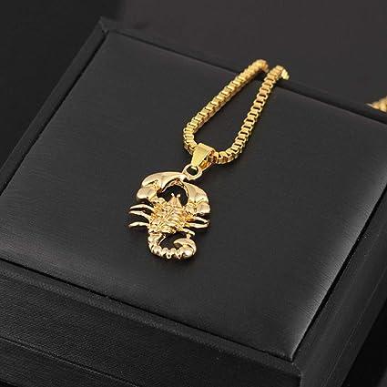 Forbestest Hommes Hip Hop Scorpion Pendentif Collier Homme punk rock /à longue cha/îne Bijoux cadeau anniversaire