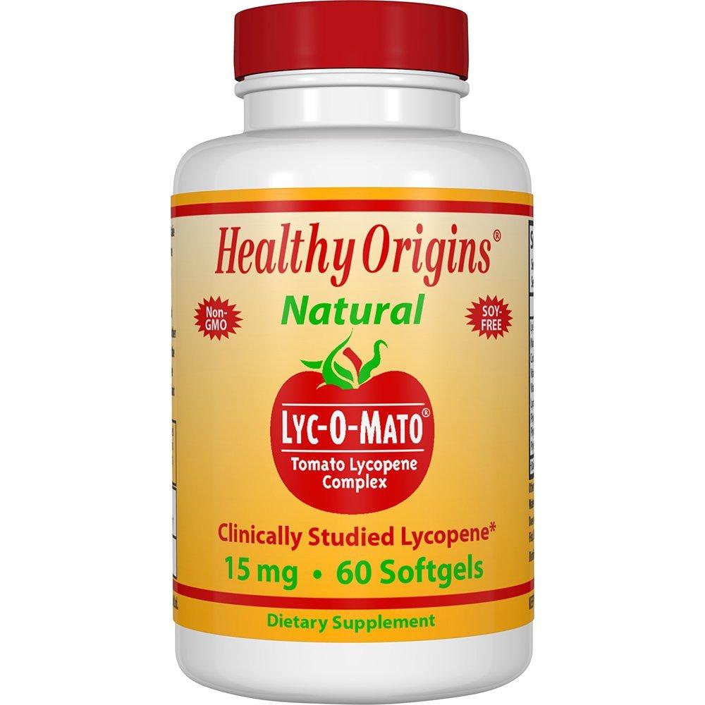 Healthy Origins LYC-O-Mato Lycopene 15 Mg, 60 Softgels by Healthy Origins