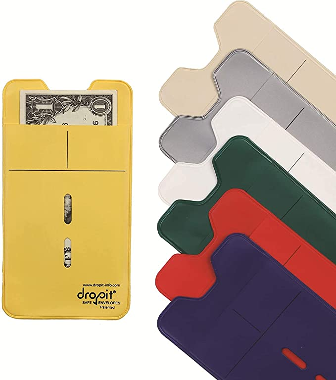 Reuseable Dropit Safe Re-usable Envelope for Safe Depositing of Currency and Money Currency and Other Documents Organize Coupon Clear, 50
