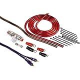 Hama Anschluss-Set (für Car Hifi-Verstärker, AMP-Kit mit Powerkabeln (10 mm²), Cinchkabel, Sicherungshalter, Sicherung, Gabelkabelschuhen und Kabelbinder)