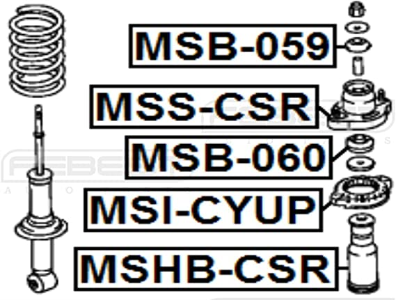 1 YEAR WARRANTY 4140A018 Febest # MSI-CYUP Upper Spring Mount