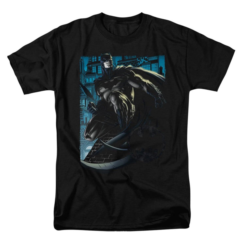 Batman DC Comics Superhero Rooftop Crouch Adult T-Shirt Tee