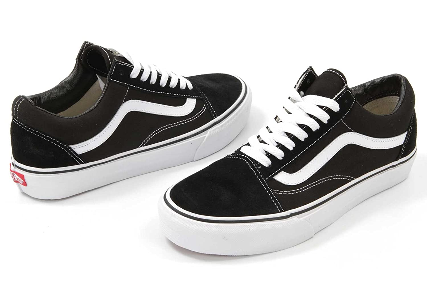 [バンズ] VANS OLD SKOOL B075FNL48Z 6.5 B(M) US Women / 5 D(M) US Men|(Black / White) (Black / White) 6.5 B(M) US Women / 5 D(M) US Men
