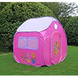 GreEco Kids Pop Up Tent, Play House Tent, 4 X 3.45 X 3.45 Feet, Pink