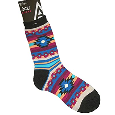Ace USA Southwest Blanket Native American Design Art Women's Socks Size 8-11