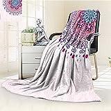 AmaPark Digital Printing Blanket Ornamental Figure Meditation Spiritual Zen Boho Style Print Light Summer Quilt Comforter