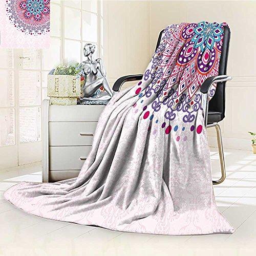 AmaPark Digital Printing Blanket Ornamental Figure Meditation Spiritual Zen Boho Style Print Light Summer Quilt Comforter by AmaPark