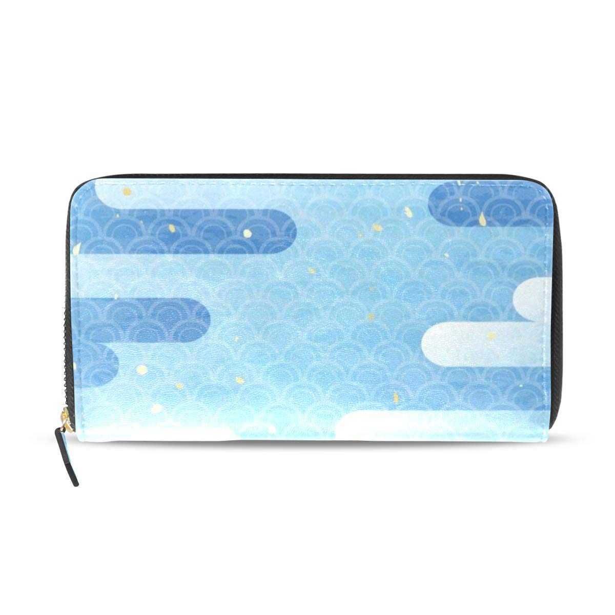 Womens Wallets Stylish Christmas Snowflake Leather Passport Wallet Coin Purse Girls Handbags
