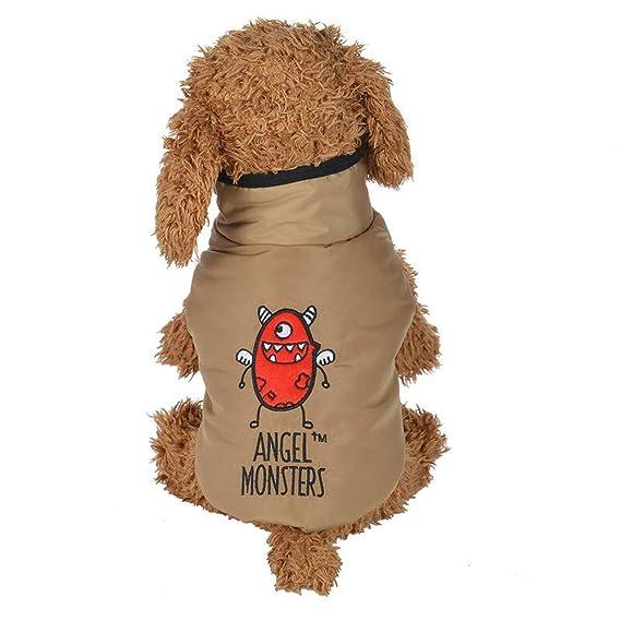 Ropa para Mascotas,Dragon868 Invierno Caliente Ángel Monstruos Impresos Acolchado Engrosamiento Chaleco Abrigo para Perros de Mascota: Amazon.es: Ropa y ...