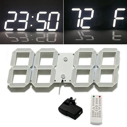 nouveau mode trois dimension moderne télé mande led horloge
