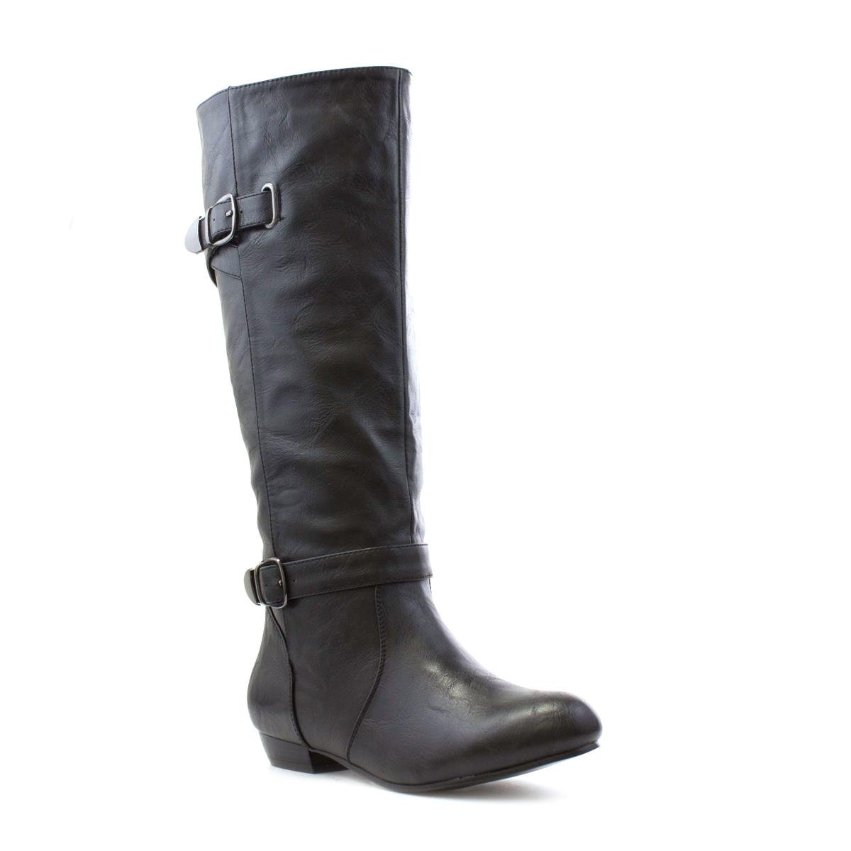Lilley Womens Black Buckle Detail Ankle Boot-18640 exclusive photo