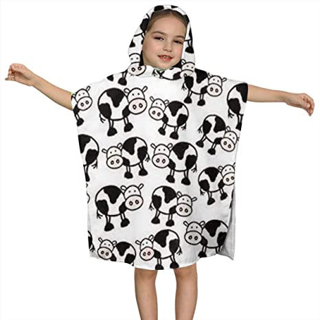 Custom Made to Order Cow Hooded Towel for Kids OR Adults