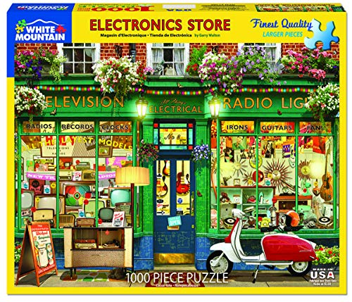 White Mountain Puzzles Electronic Store Jigsaw Puzzle, Multicolor