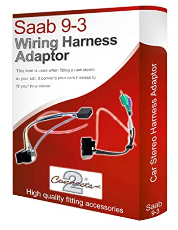 616crQ5xy4L._SY450_ saab 9 3 93 cd radio stereo wiring harness adapter lead amazon co saab 9-3 stereo wiring harness at aneh.co