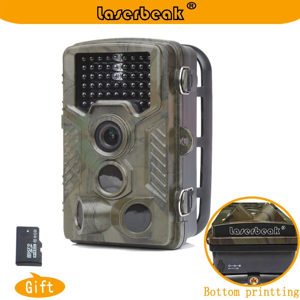 Laserbeak Rastro Caza Fauna Cámara, Vigilancia Visión Nocturna Impermeable Cámara con la tarjeta del TF 8G SLXJ160602UK