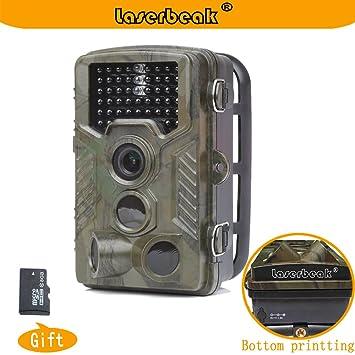 Laserbeak Rastro Caza Fauna Cámara,Vigilancia Visión Nocturna Impermeable Cámara con la tarjeta del TF 8G