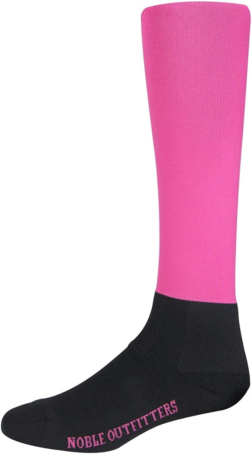 Noble Equestrian Solid Over-The-Calf Peddies Riding Boot Socks for Women Adults (One-Size)