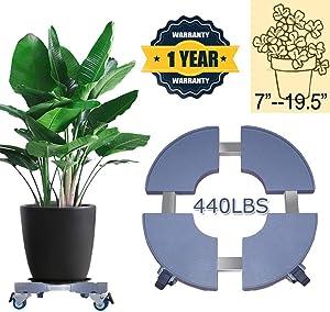 Plant Caddy with Wheels LargePlantCaddy PlantDollyHeavyDuty RollingPlantCaddy Outdoor Plant Stand GardenPlantCaddy IndoorPlantDolly 20inch 440lbs Capacity